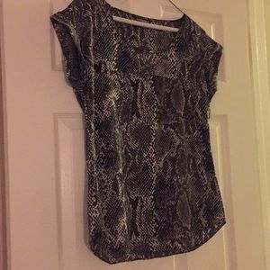 Express snake silk top